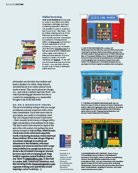 Bookish pleasure article featuring Bluestocking Books tours