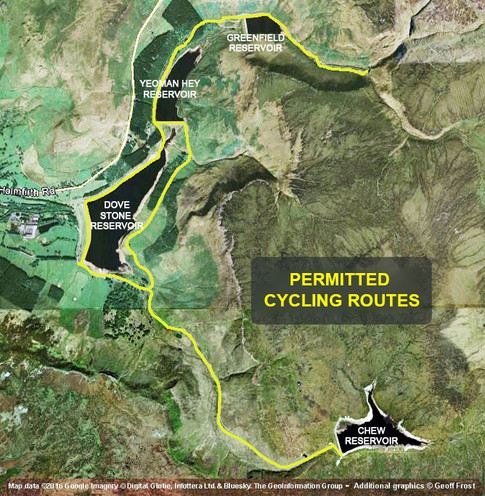 Cycle routes at Dovestones