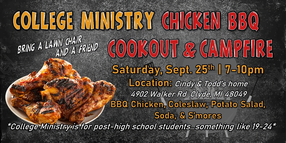 College Age BBQ Cookout & Campfire