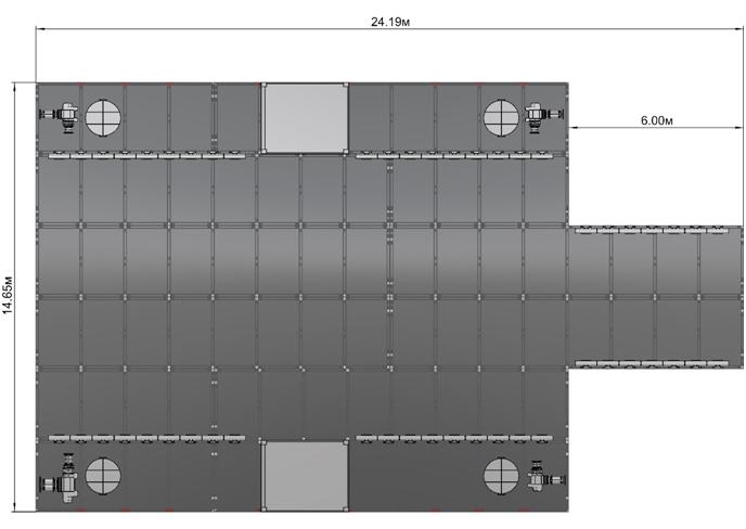 Самоподъемная платформа лебедки 3