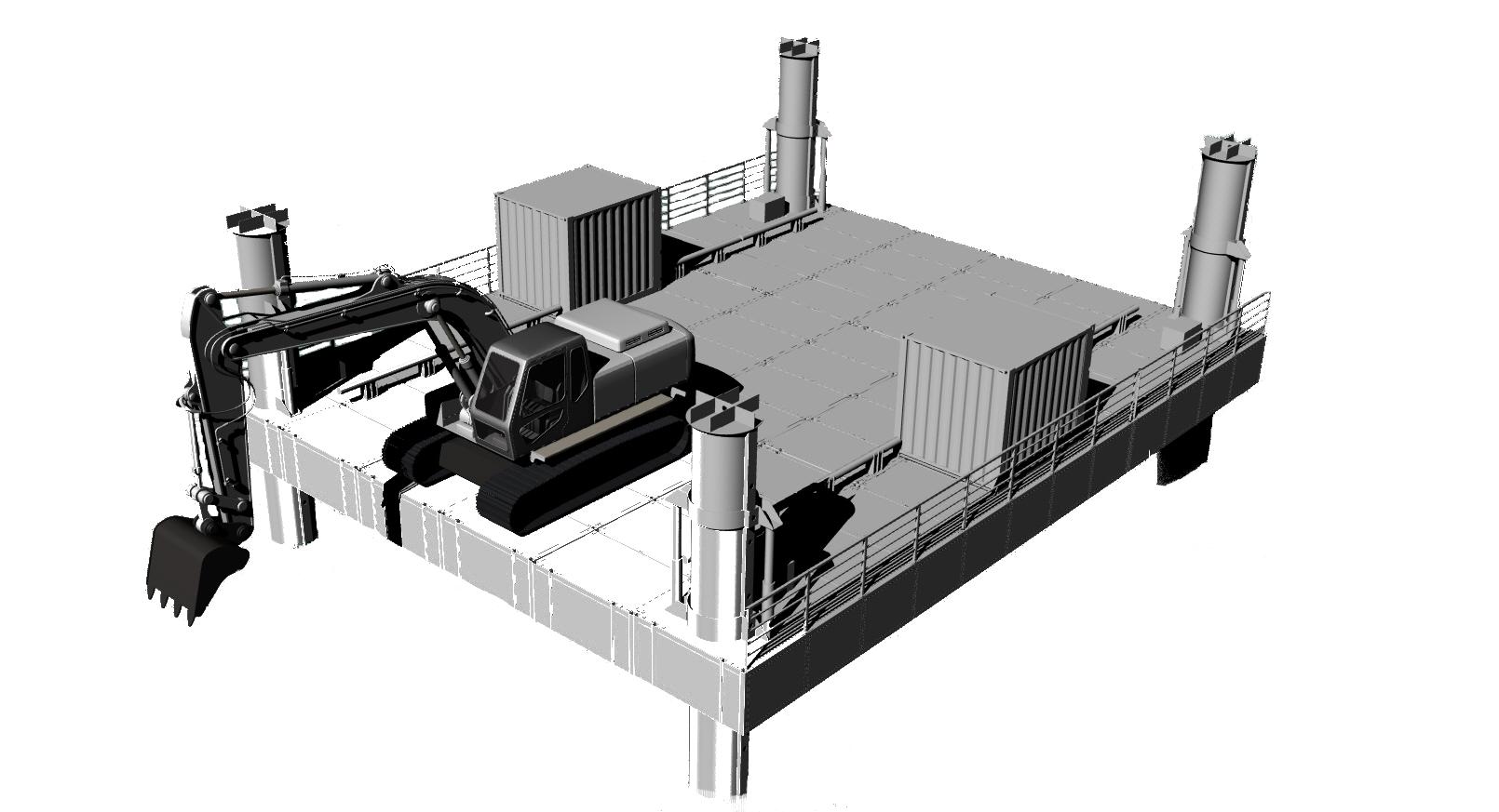 Самоподъемная платформа 500т
