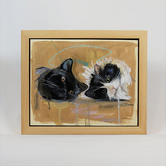 """TWO Animals -8X10"""" Framed"""