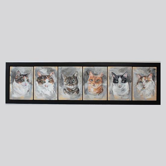 SIX Animals -5X7's Framed