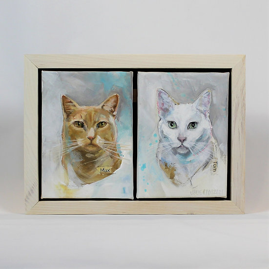 """TWO Animals - 5x7"""" Framed"""