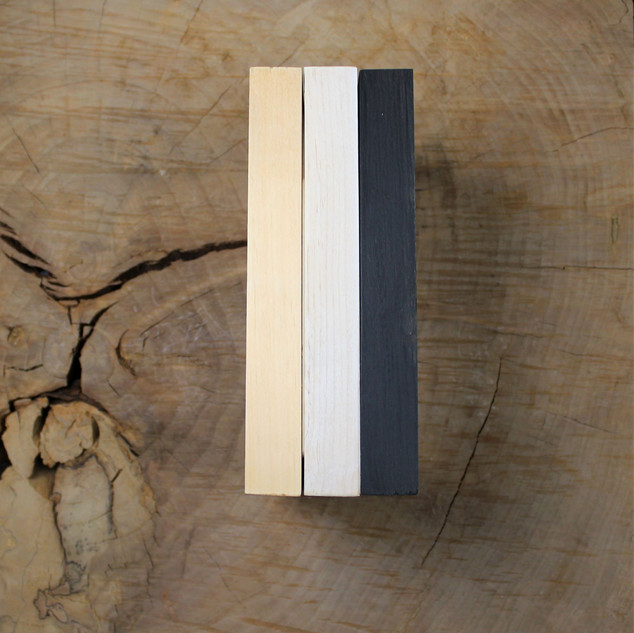 Abstract Pet Studio-made frames in three finishes.