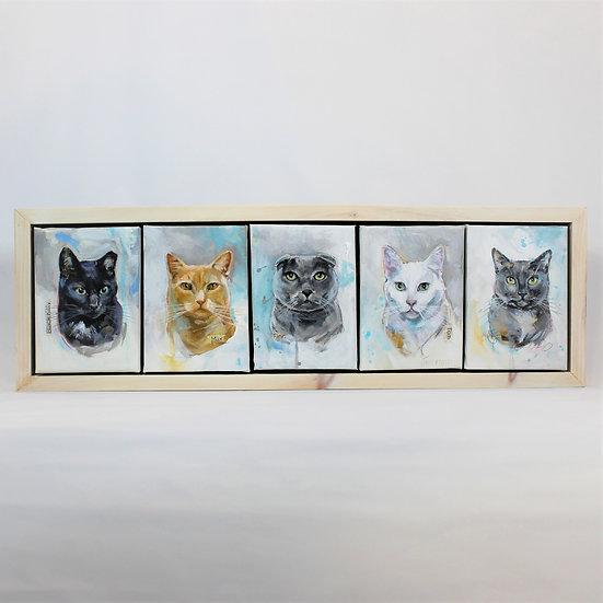 "FIVE Animals - 5X7""s Framed"