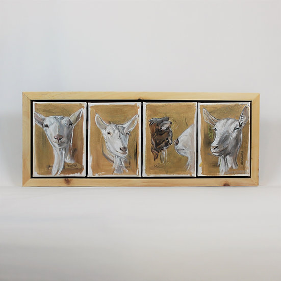 "FOUR Animals - 5X7""s Framed"