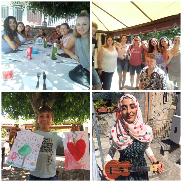 After lots of goodbyes, gift giving, tea and lunch with one of the Syrian families, lunch with the o