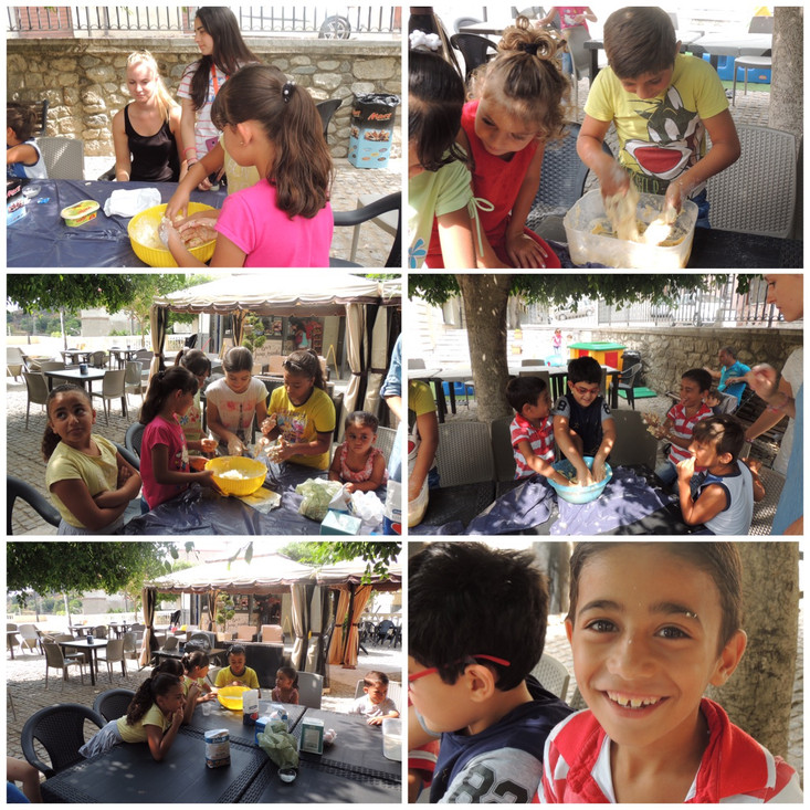 Creativity and fun this week involved making necklace and bracelet making but also baking - al fresc