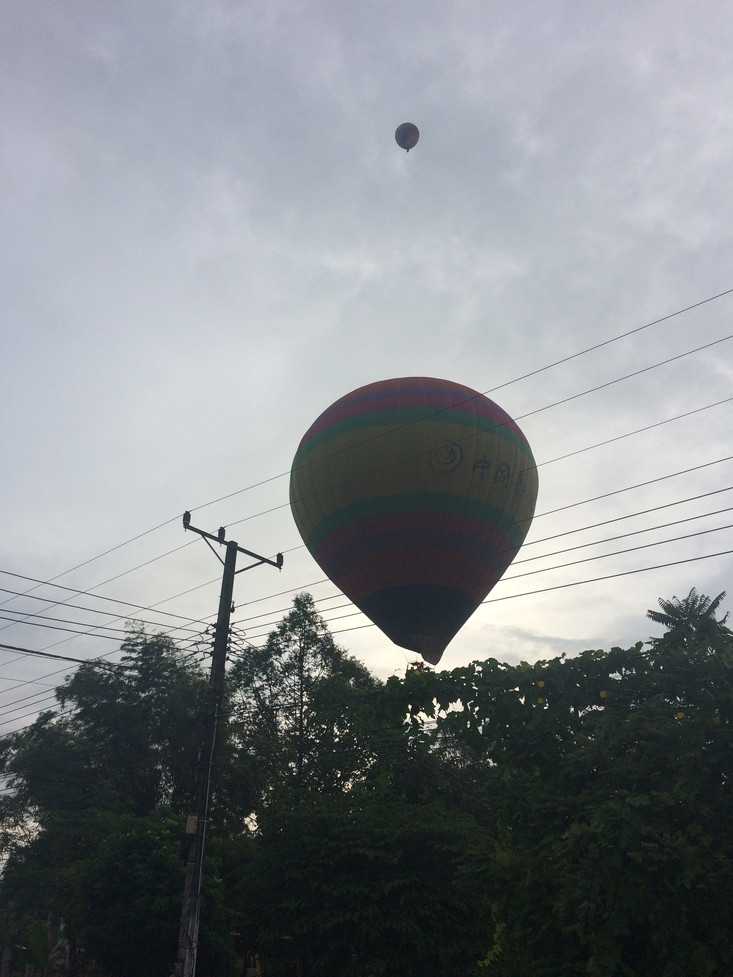 The hot air balloonI took quite a long time to make the decision about whether or not to sign up to