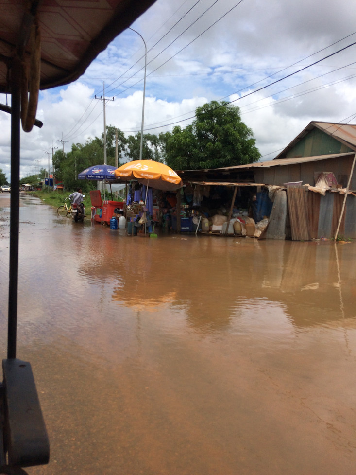 October in Cambodia is the end of rainy season. Last week there were a number of heavy storms which
