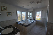 Master bath has two person jacuzzi