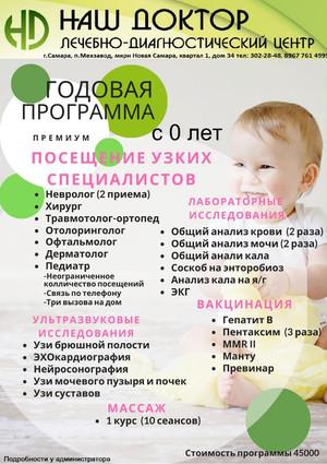 Два варианта годового наблюдения за Вашим малышом