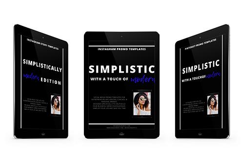 Simplistically Modern Social Media Template Bundle