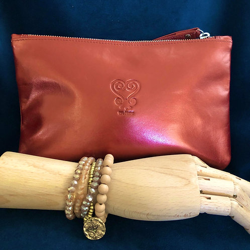 Custom Leather Clutch Purse - Pretty Penny