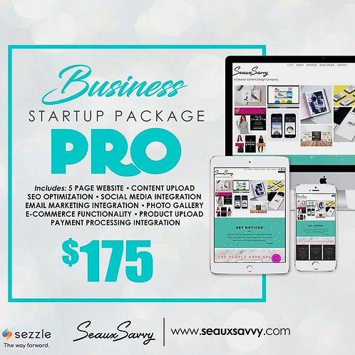 Website Package (Pro) - Sezzle