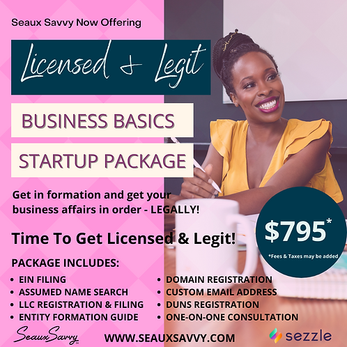 Licensed & Legit - Business Basics Startup Package