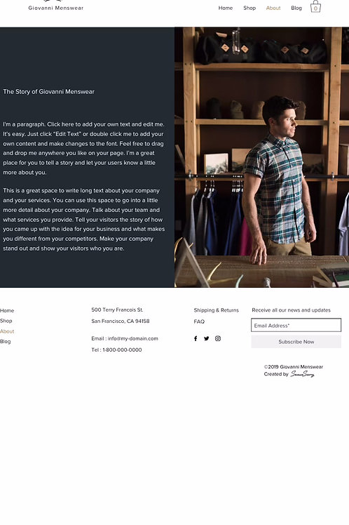 Ready-made Sites - Clothing