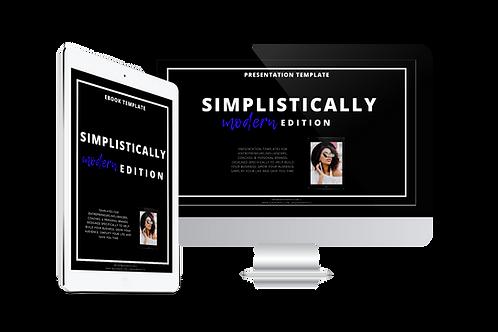 Simplistically Modern E-Book & Webinar Template Bundle