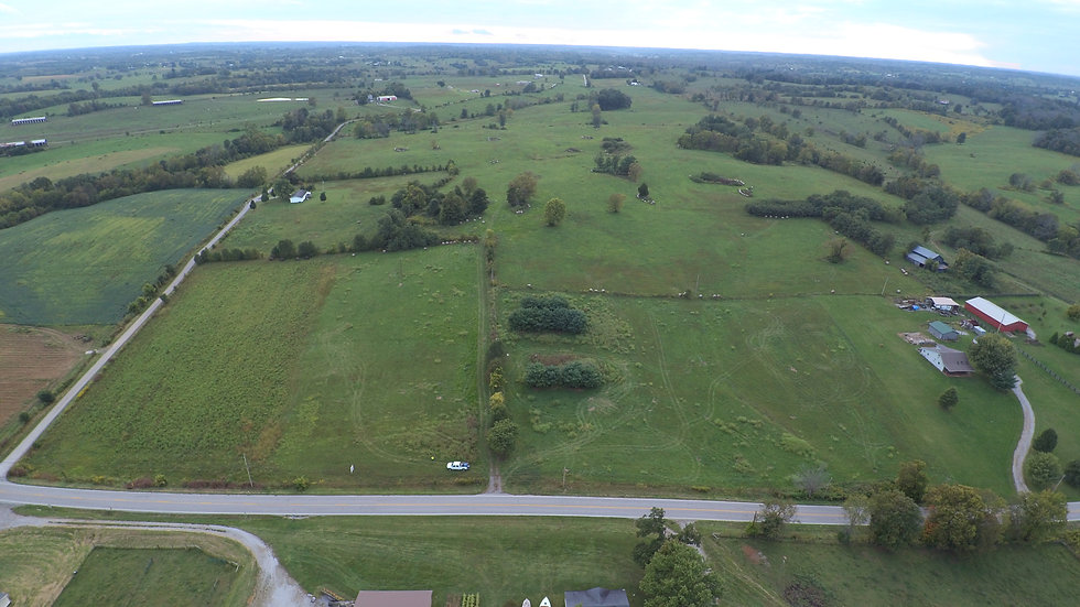 Overhead image of a farm in Harrison County, KY