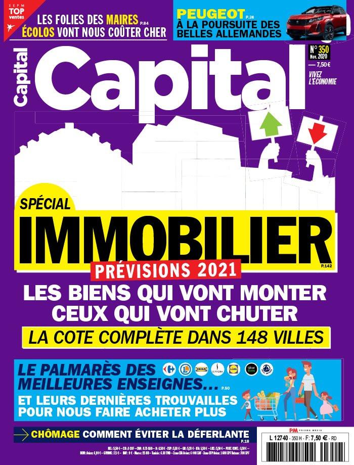 La Couverture du magasine Capital en Novembre 2020