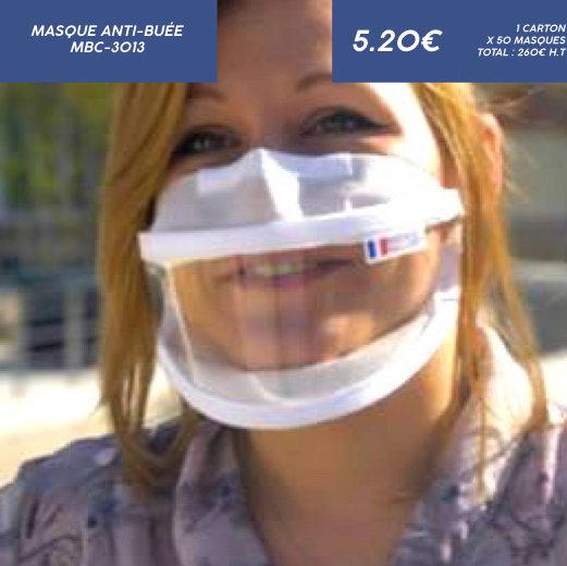 Masque Transparent - Anti buée