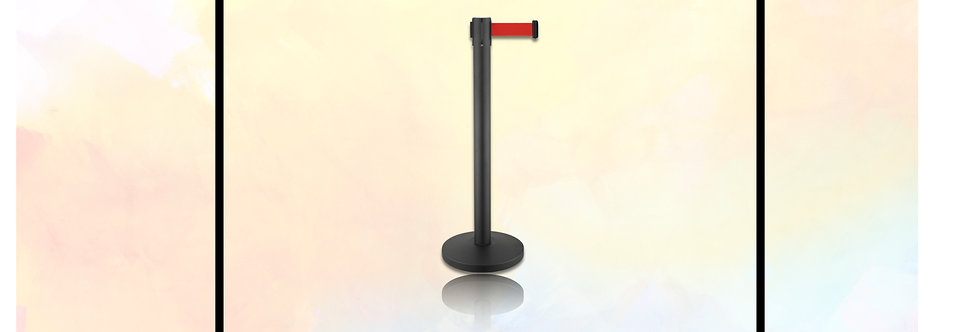 Poteau de Guidage et de séparation,en acier noir,