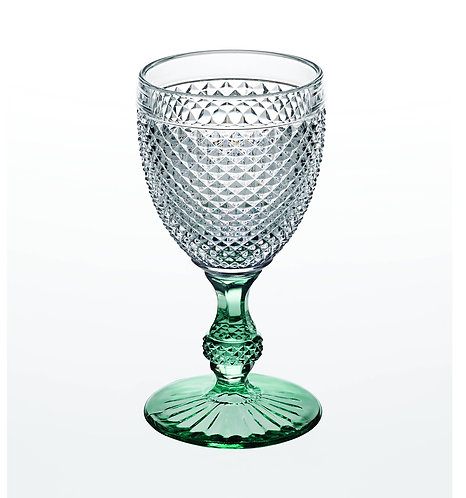 Classic Vista Alegre Goblet Glass Green Stem