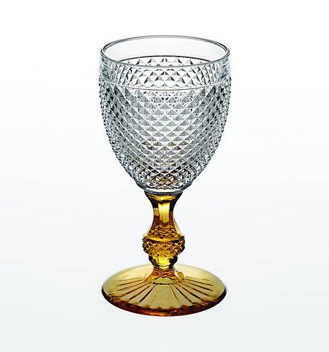 Classic Vista Alegre Goblet Glass Amber Stem