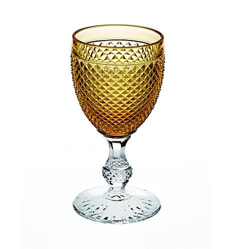 Classic Vista Alegre Goblet Glass Amber Top