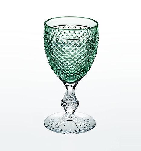 Classic Vista Alegre Goblet Glass Green Top