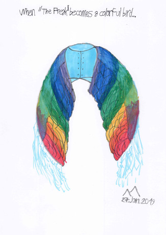 Filipe Machado.  When the freak becomes a colorful bird.