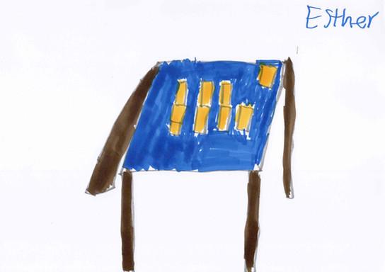 Esther Schätti.  La table du salon, Le manoir du Ban.