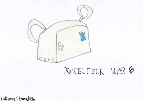 Guilherme Evangelista.  Projecteur super 8