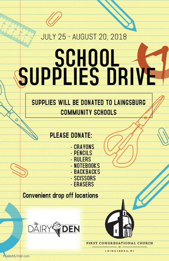 Copy of School Supplies Drive Poster Tem