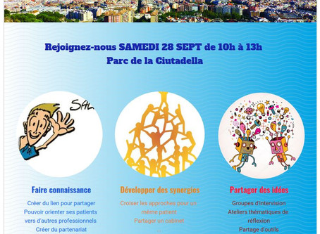 Rencontre Thérapeutes Francophones à Barcelone        Samedi 28 septembre!