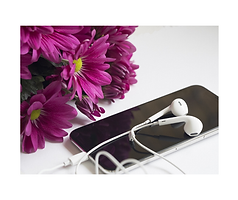 flowers and earbuds.png