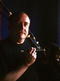 Allan MacDonald piper at Blas Festival