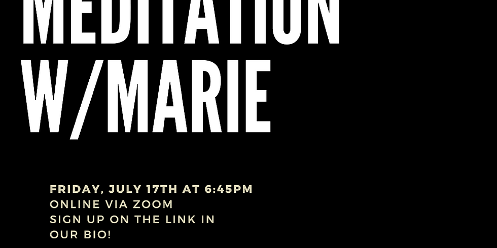Silent Meditation with Marie