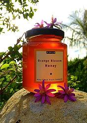 A jar of orange blossom honey