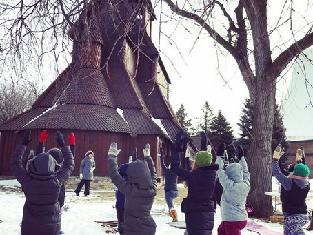 Yoga in the Snow: A Lesson In Mindfulness