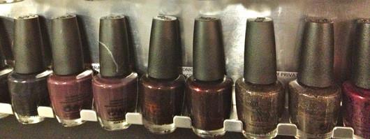 OPI brown polishes