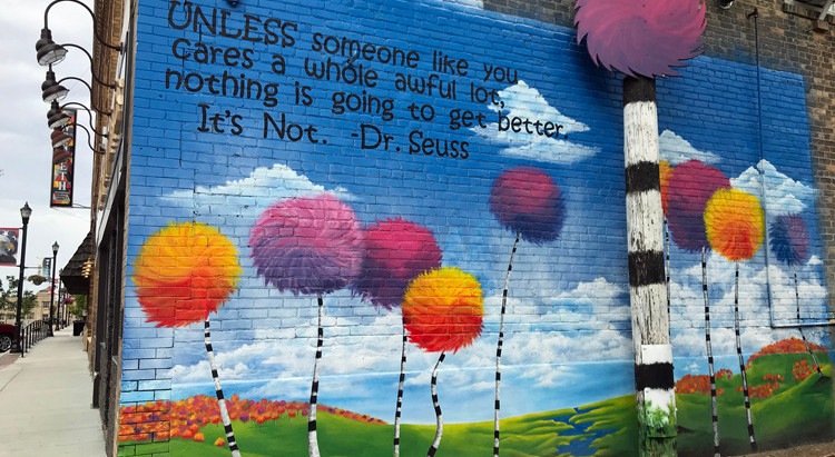 Dr. Seuss And Ghost Signs: Public Art In Devils Lake