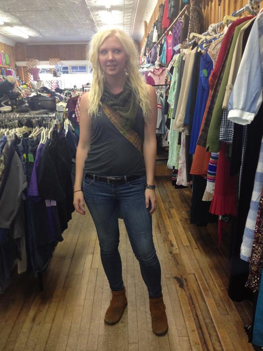 Bemidji Street Style dreads and skinny jeans