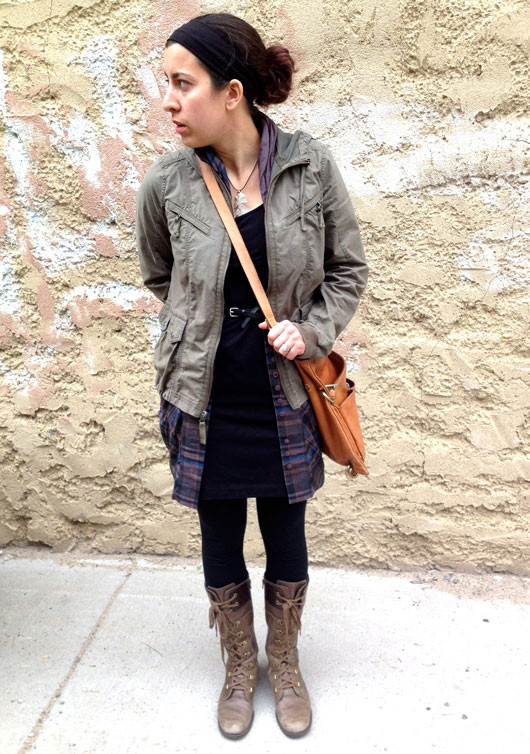 Fargo street style layers and boots