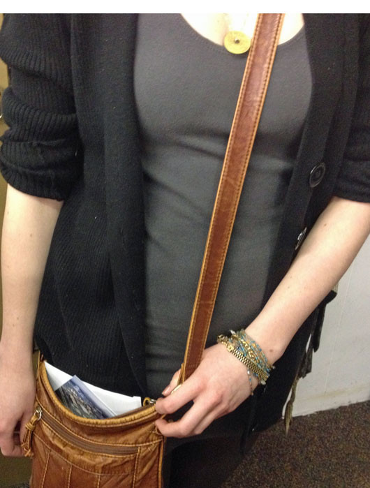 Fargo street style leather bag