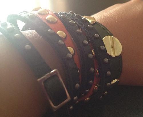 What I'm Wearing: Studded Wrap Bracelets