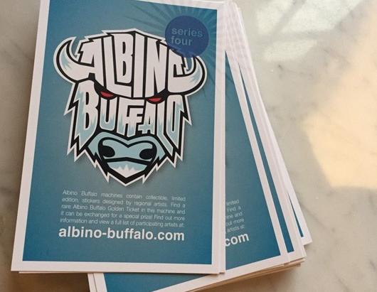 Score Albino Buffalo Sticker Art