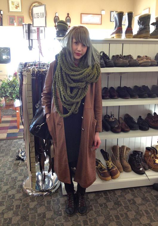 Fargo Street Style leather coat