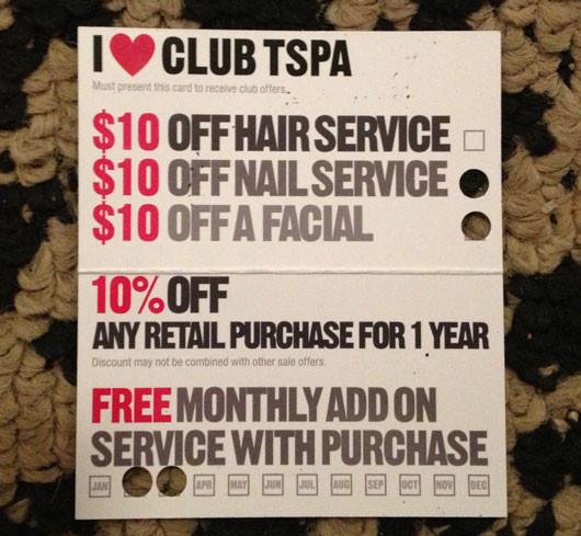 Salon Professional Academy Club Card